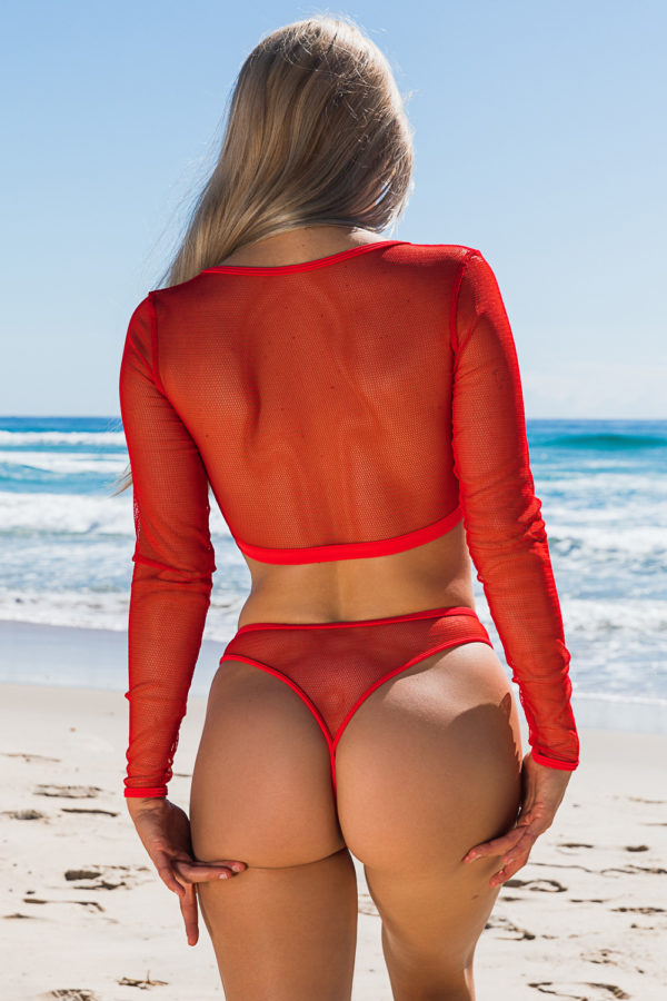 Micro Mesh 911 Top + 282 Cheeky Red Back