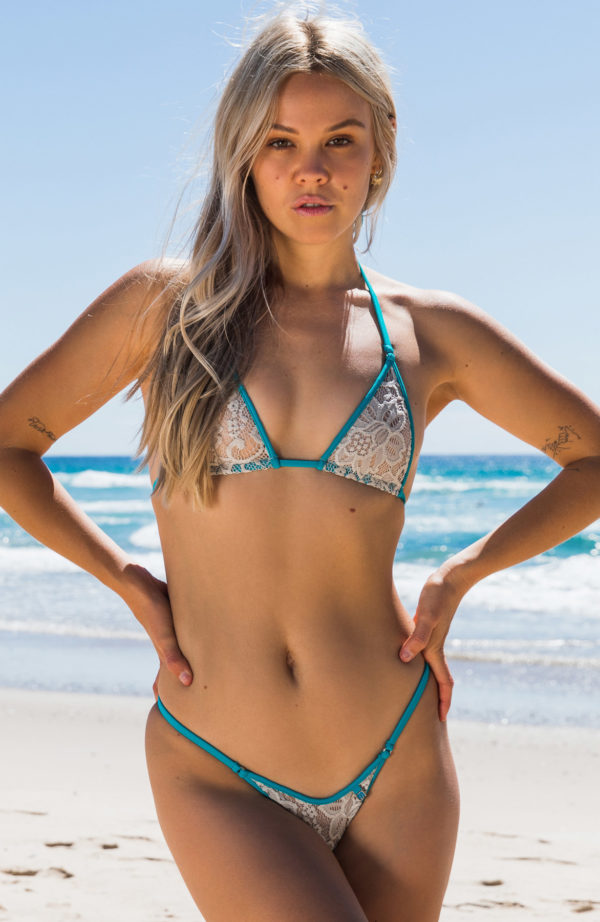 Blossom Lace 312 414 Silver Teal Front